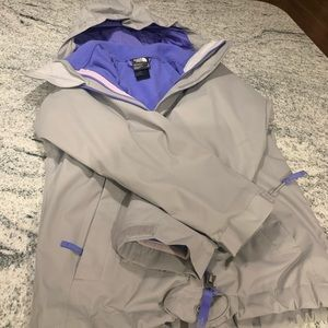 The Northface Hyvent coat for girls in size small